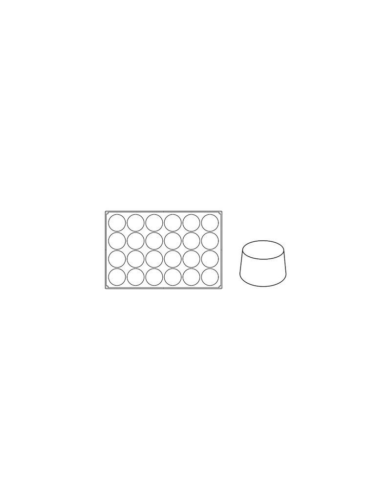 Pavoni Pavoni - Pavoflex silicone mold, Big Muffin, Monoporzione (24 cavity), PX056