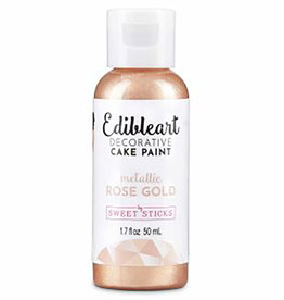 Sweet Sticks Sweet Sticks - Metallic Rose Gold Edible Art Paint - 50mL