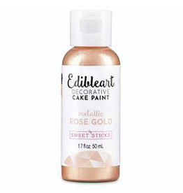 Sweet Sticks Sweet Sticks - Edible Art Paint, Metallic Rose Gold - 50mL