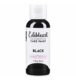 Sweet Sticks Sweet Sticks - Edible Art Paint, Black - 50mL