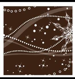 Valrhona Valrhona - Cocoa butter transfer, Winter Spirit (20 sheets), 17101