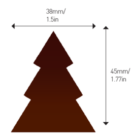 Valrhona Valrhona - Dark Chocolate Tree (108 ct), 28119