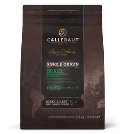 Callebaut Callebaut - Brazil Single Origin Dark Chocolate 66.8% - 2.5kg/5.5lb, CHD-Q68BRA-2B-U75