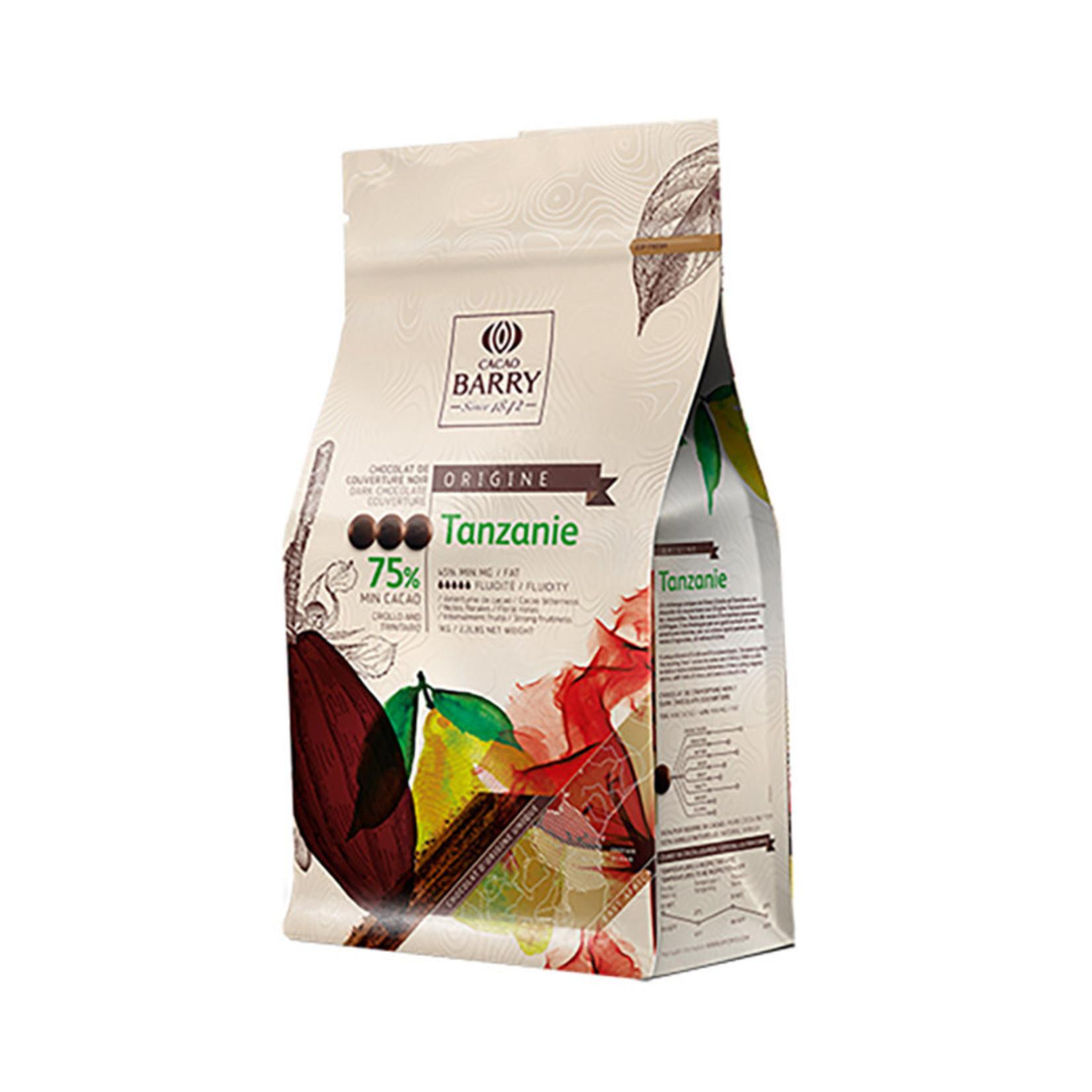 Cacao Barry Cacao Barry - Tanzanie Origine Dark Chocolate, 75% - 2.5kg/5.5lb, CHD-Q75TAZ-US-U75