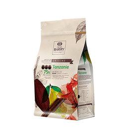 Cacao Barry Cacao Barry - Tanzanie Origine Dark Chocolate, 75% - 2.5kg, CHD-Q75TAZ-US-U75
