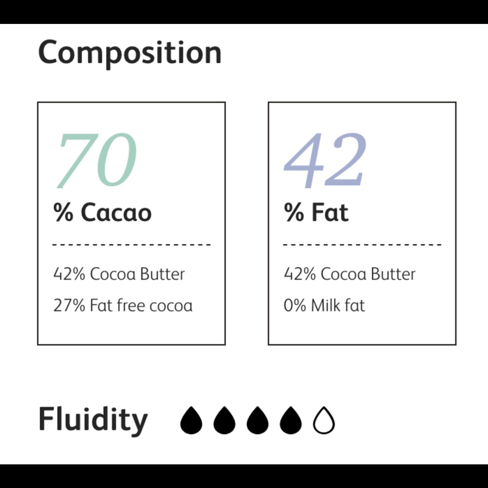 Cacao Barry Cacao Barry - Fleur de Cao Origin Dark Chocolate 70% - 5kg/11lb, CHD-O70FLEU-US-U77