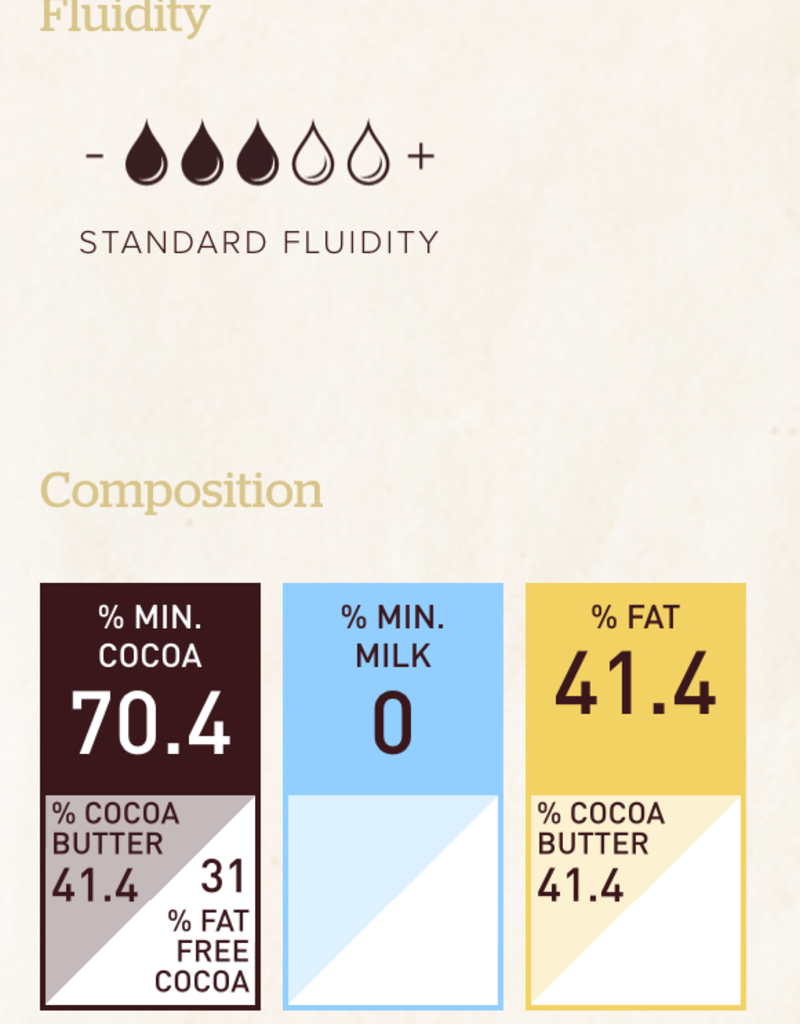 Barry Callebaut Barry Callebaut - Ecuador Single Origin Dark Chocolate 70.4% - 2.5kg/5.5lb, CHD-R731EQU-2B-U75