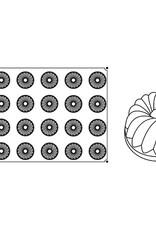 Pavoni Pavoni - Pavoflex silicone mold, Guglhupf, Monoporzione (24 cavity), PX014