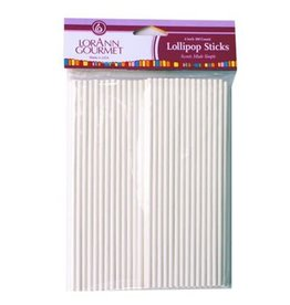Lorann Lorann - Lollipop sticks - 6'' (100ct), 5721-0000