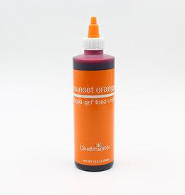 Chefmaster Chefmaster - Sunset Orange Gel food color - 10.5oz