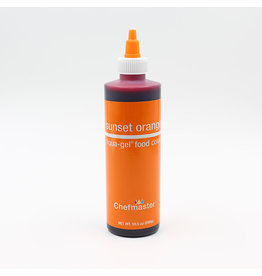 Chefmaster Chefmaster - Sunset Orange Gel food color - 10.5oz