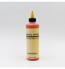 Chefmaster Chefmaster - Canary Yellow Airbrush food color - 9oz