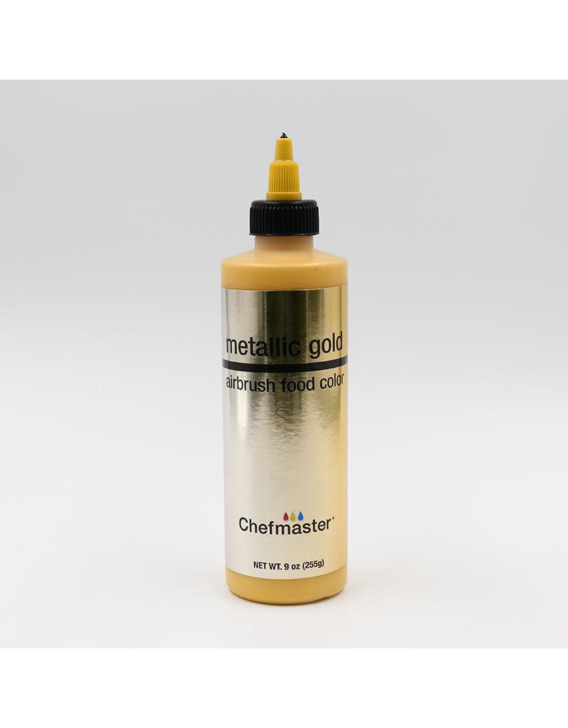 Chefmaster Chefmaster - Metallic Gold Airbrush food color - 9oz