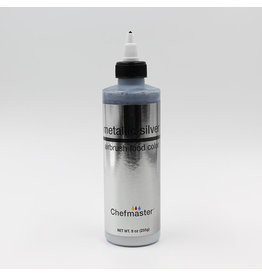 Chefmaster Chefmaster - Metallic Silver Airbrush food color - 9oz