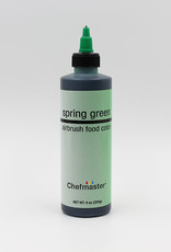 Chefmaster Chefmaster - Spring Green Airbrush food color - 9oz