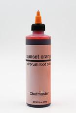 Chefmaster Chefmaster - Sunset Orange Airbrush food color - 9oz