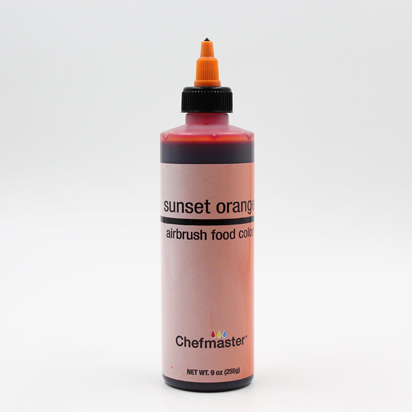 Chefmaster Chefmaster - Sunset Orange Airbrush food color - 9oz, 34-3190