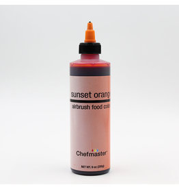 Chefmaster Chefmaster - Sunset Orange Airbrush food color - 9oz