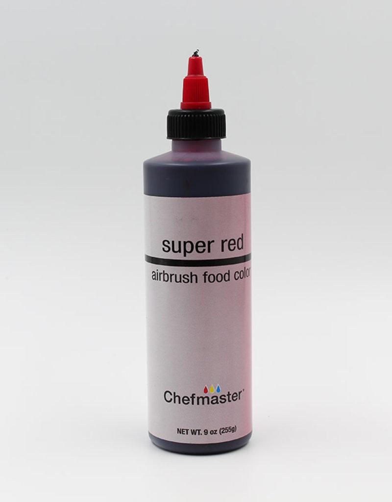 Chefmaster Chefmaster - Super Red Airbrush food color - 9oz