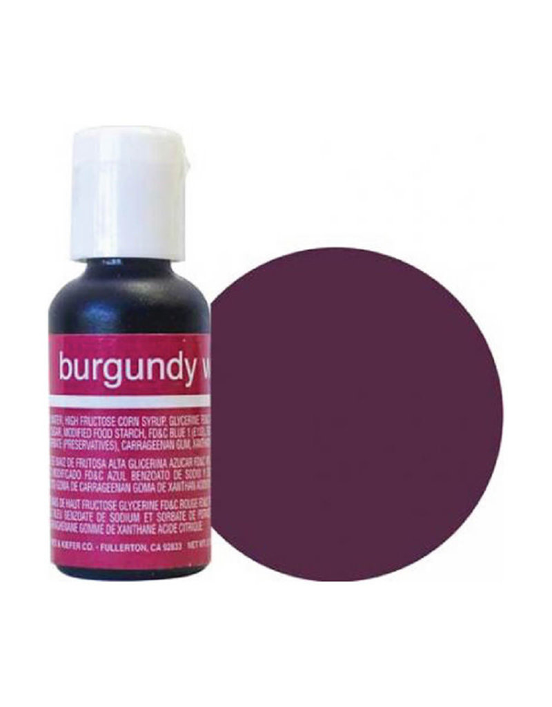 Chefmaster Chefmaster - Burgundy Gel food color - 0.70oz