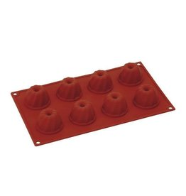 Pavoni Pavoni - Formaflex silicone mold, Mini Guglhupf (8 cavity), FR069