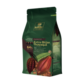 Cacao Barry Cacao Barry - Guayaquil Dark Chocolate 64% - 5kg/11 lb, CHD-P64EBPU-2B-U77