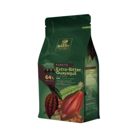 Cacao Barry Cacao Barry - Guayaquil Dark Chocolate 64% - 5kg/11 lb, CHD-P64EXBG-US-U77