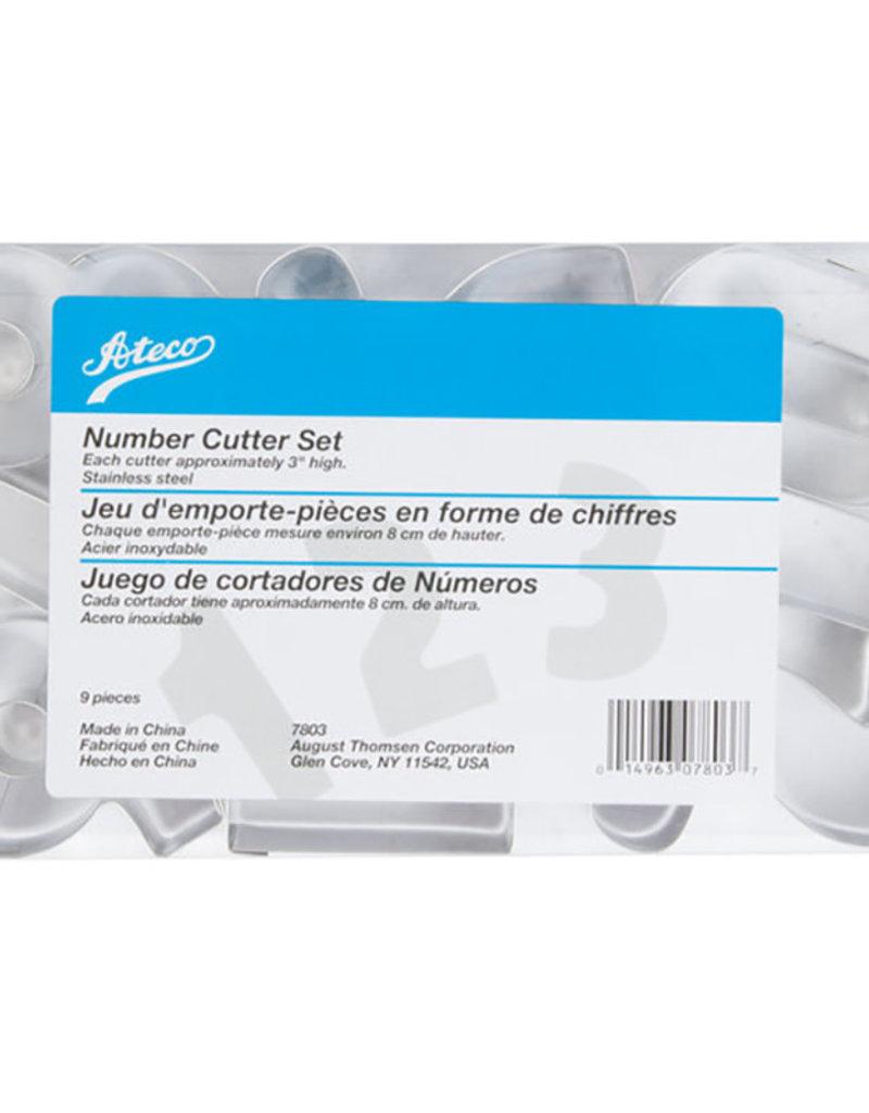 Ateco Ateco - Number Cutter Set - 3'', 7803