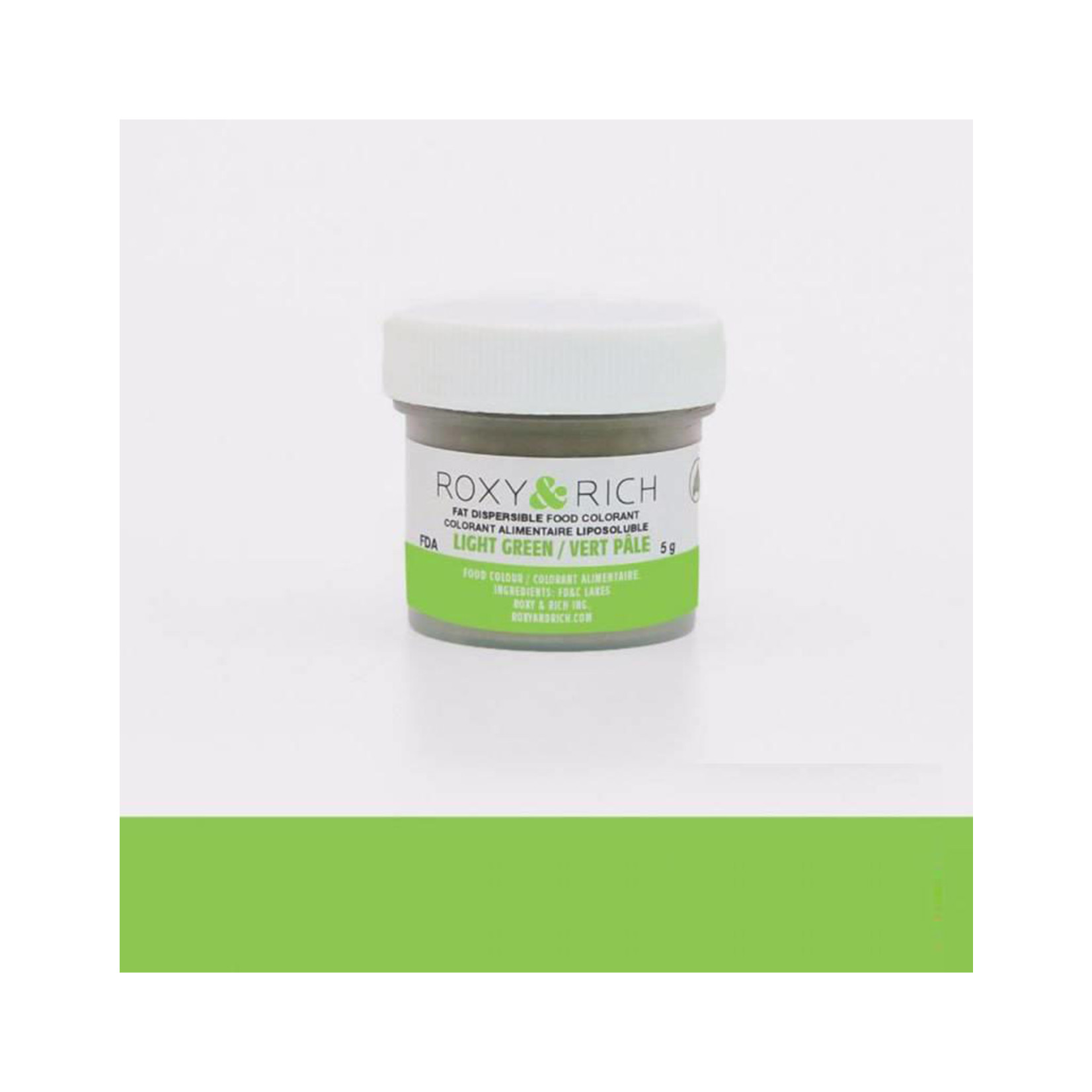 Roxy & Rich Roxy & Rich - Fat Dispersible Powdered Color, Light Green -