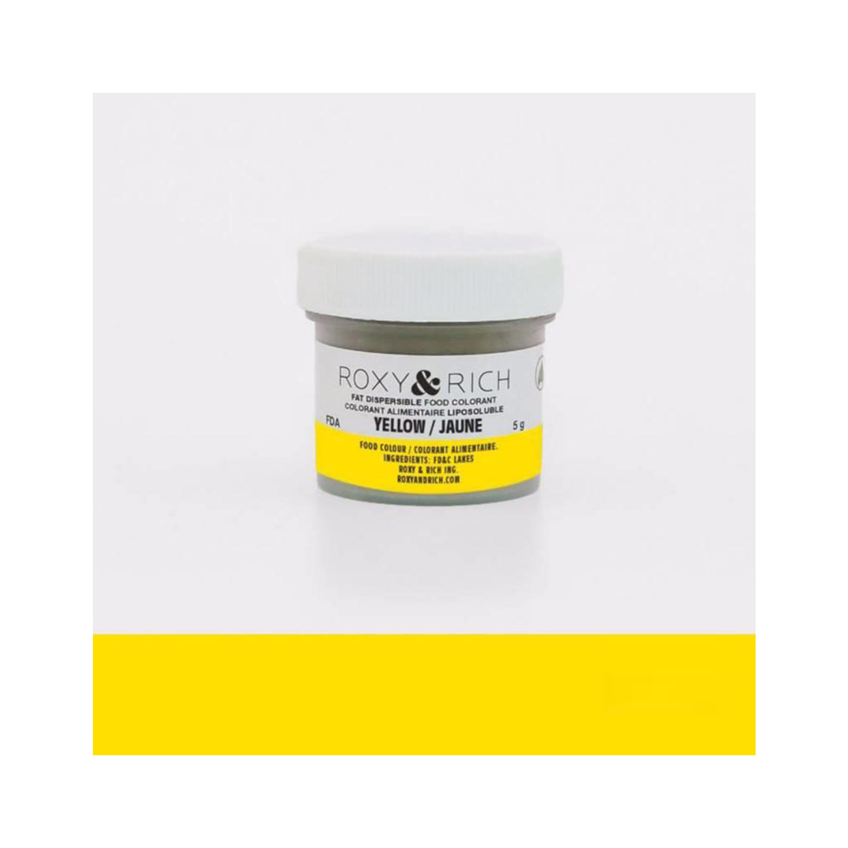 Roxy & Rich Roxy & Rich - Fat Dispersible Powdered Color, Yellow -