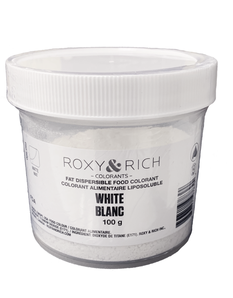 Roxy & Rich Roxy & Rich - Fat Dispersible Powdered Color, White -