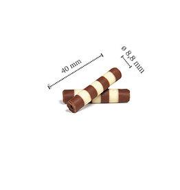 Dobla Dobla - Chocolate Mistral, Duo, Milk/White - 1.5x0.4'' (868ct), 96319 | 42167
