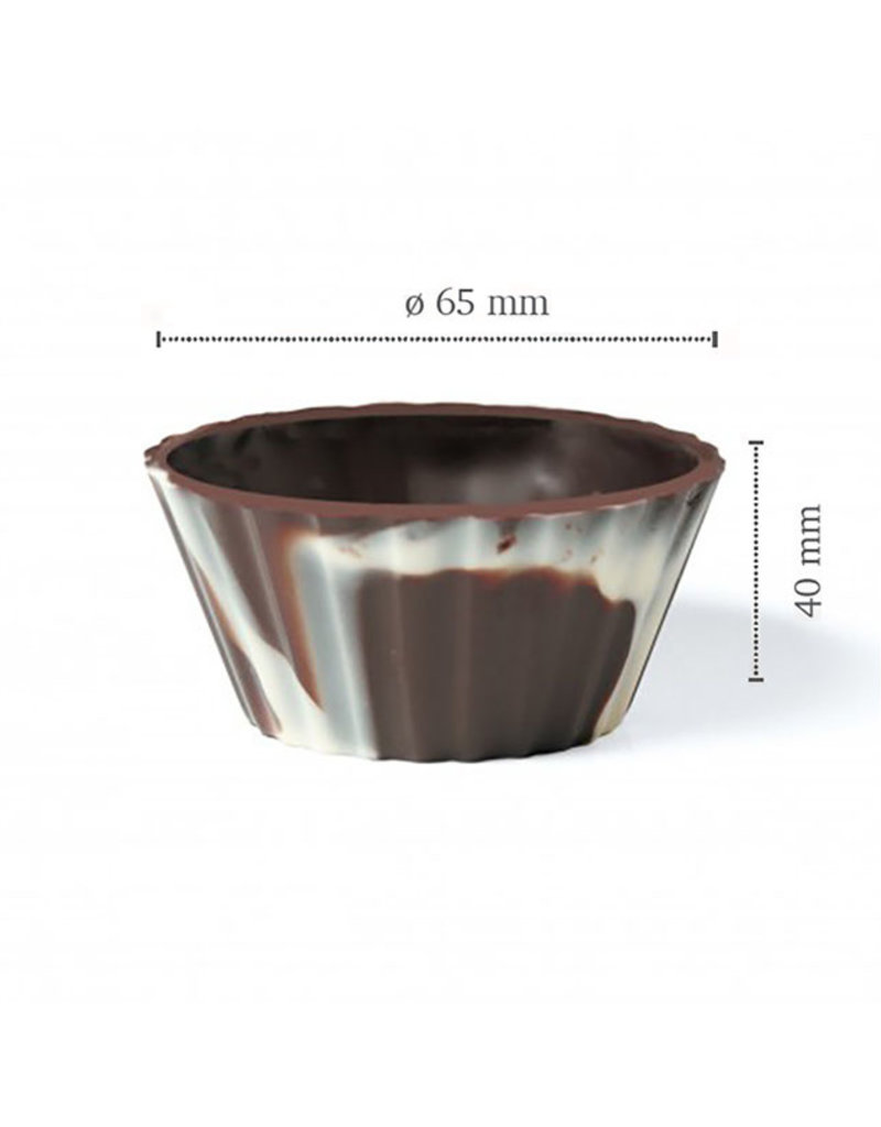 Dobla Dobla - Marbled Dark Chocolate Dessert cup, Ballerina - 2.5x1.1'' (84ct), 11254