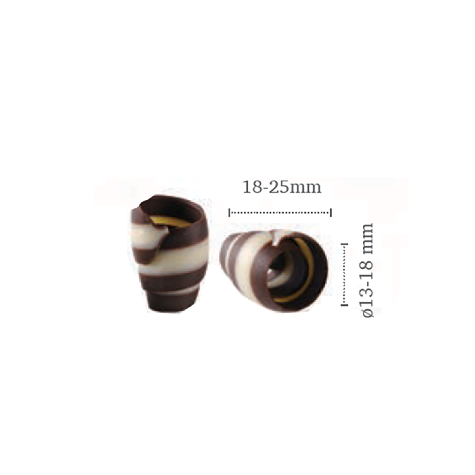 Dobla Dobla - Chocolate Rose Curl, Dark/White (180ct), 72183