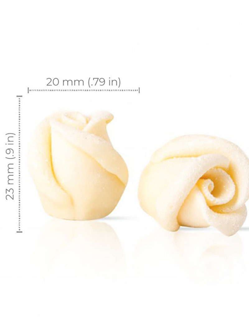 Dobla Dobla - White Chocolate Mini Rose (45ct), 77495