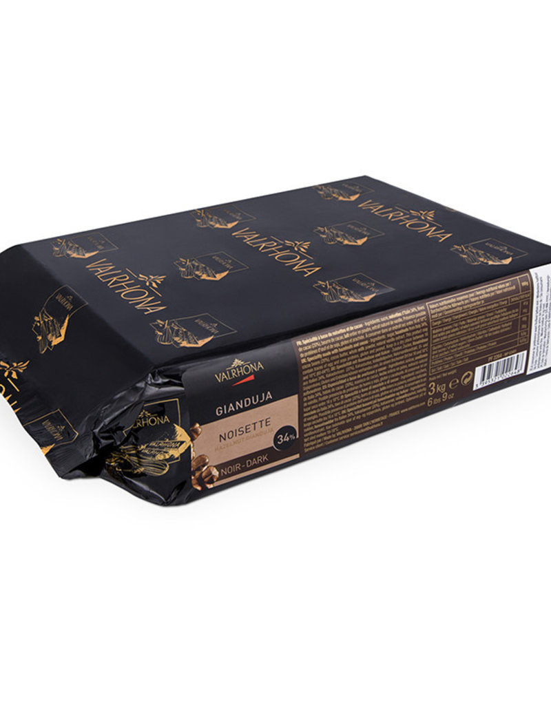 Valrhona Valrhona - Dark Chocolate Hazelnut Gianduja 34% - 6.6lb/3kg, 2264