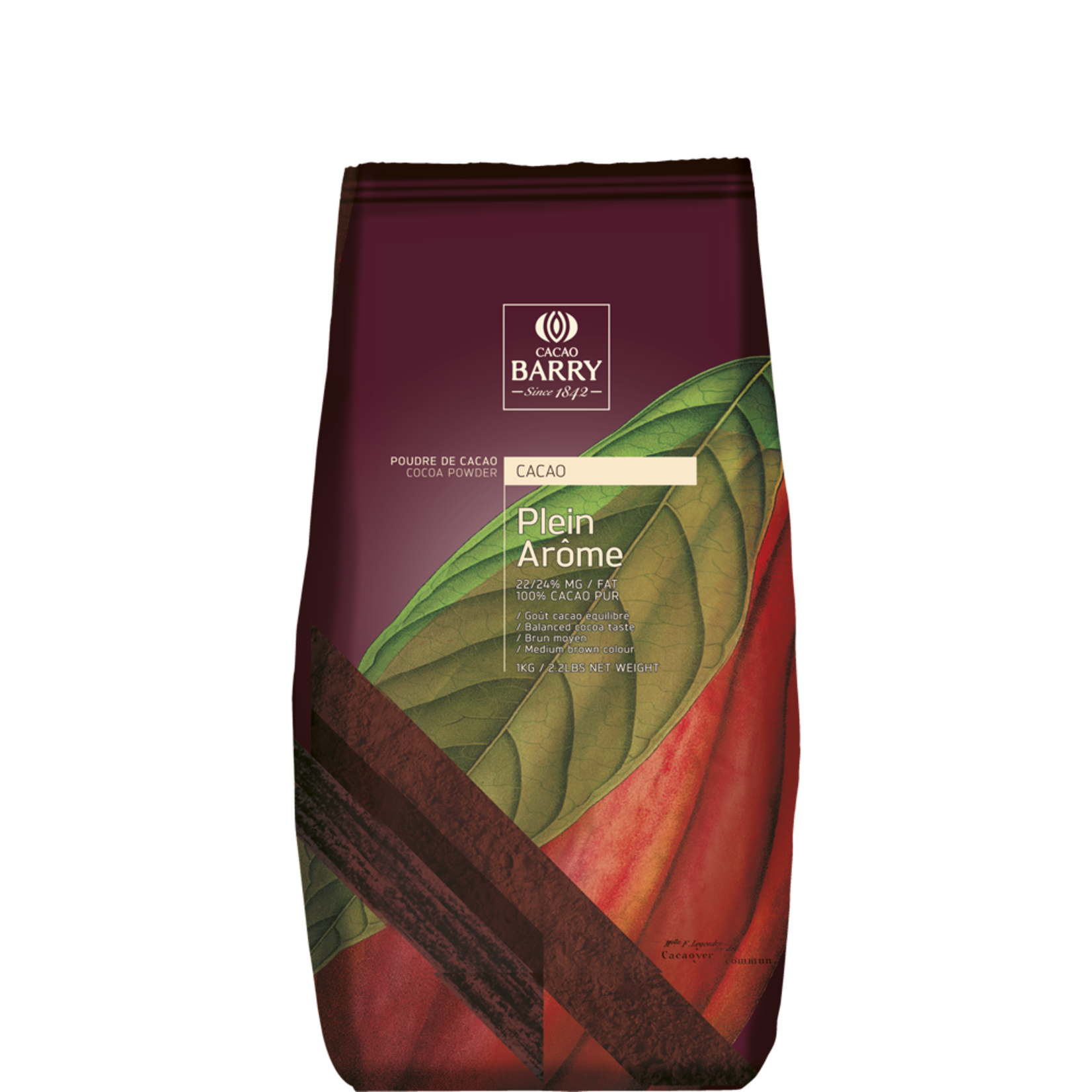 Cacao Barry Cacao Barry - Plein Arome Cocoa Powder 22-24% - 1kg/2.2lb, DCP-22GT-BY-760