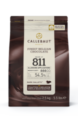 Barry Callebaut Barry Callebaut - 811 Dark Chocolate 54.5% - 2.5kg/5.5lb, 811-US-U76
