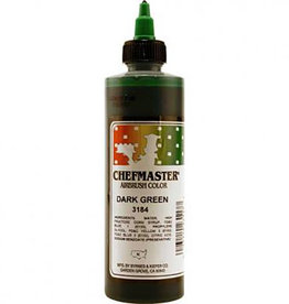 Chefmaster Chefmaster - Dark Green Airbrush food color - 9oz
