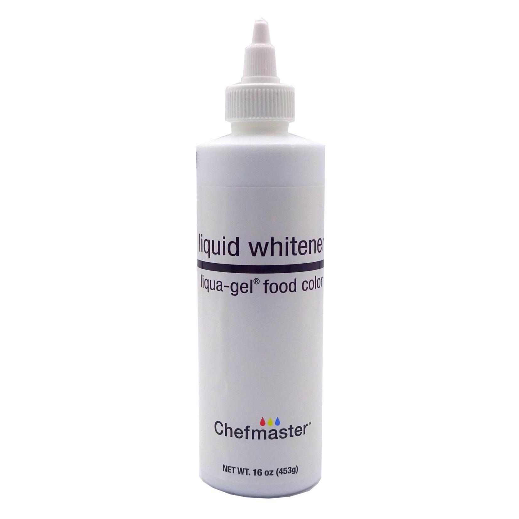 Chefmaster Chefmaster - Whitener Liqua Gel food color - 16oz