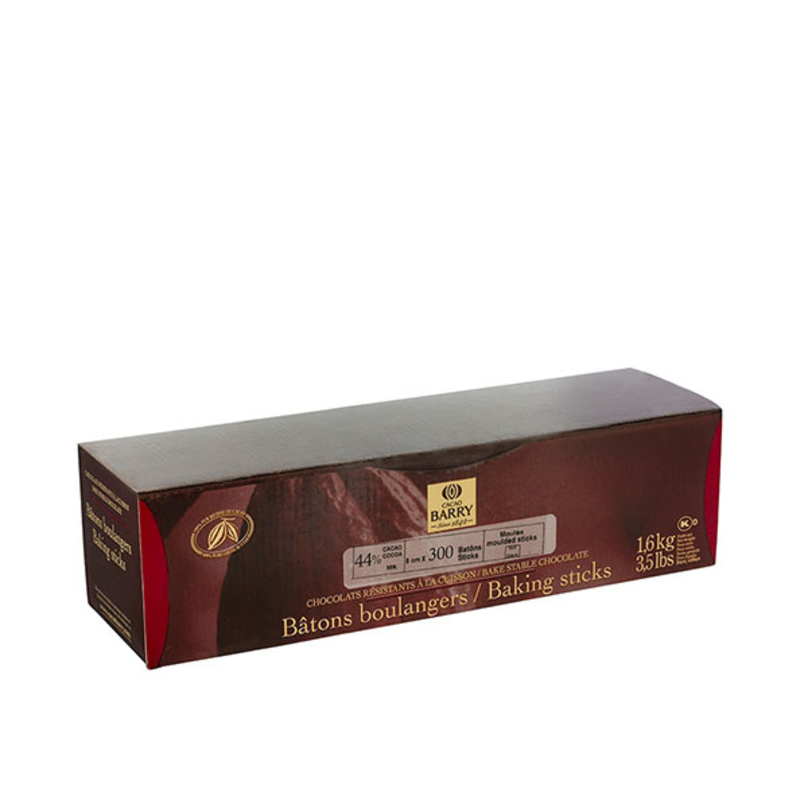 Cacao Barry Cacao Barry - Chocolate Batons 44% (300ct), CHD-BB-308BY-357