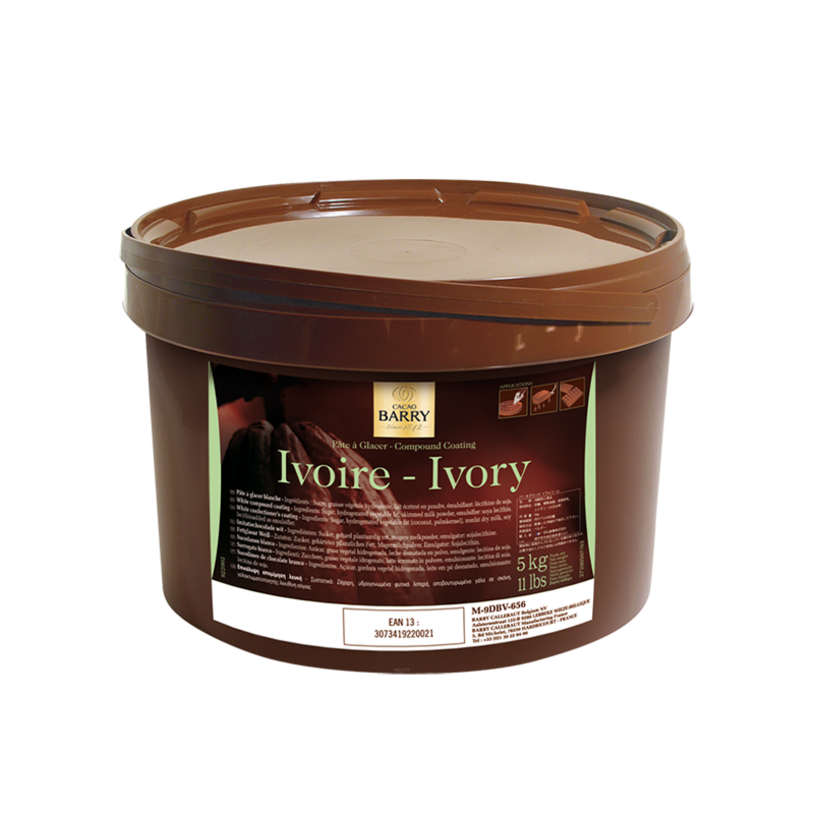 Cacao Barry Cacao Barry - Pate Glacer Ivoire/White - 5kg/11lb, M-9DBV-656
