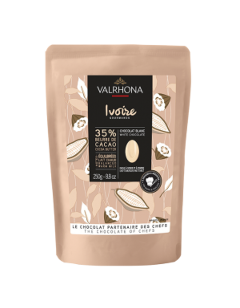 Valrhona Valrhona - Ivoire White Chocolate 35% - 250g/8.8oz, 31212