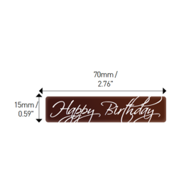 Valrhona Valrhona - Happy Birthday Rectangle Dark Chocolate (70 ct), 17065