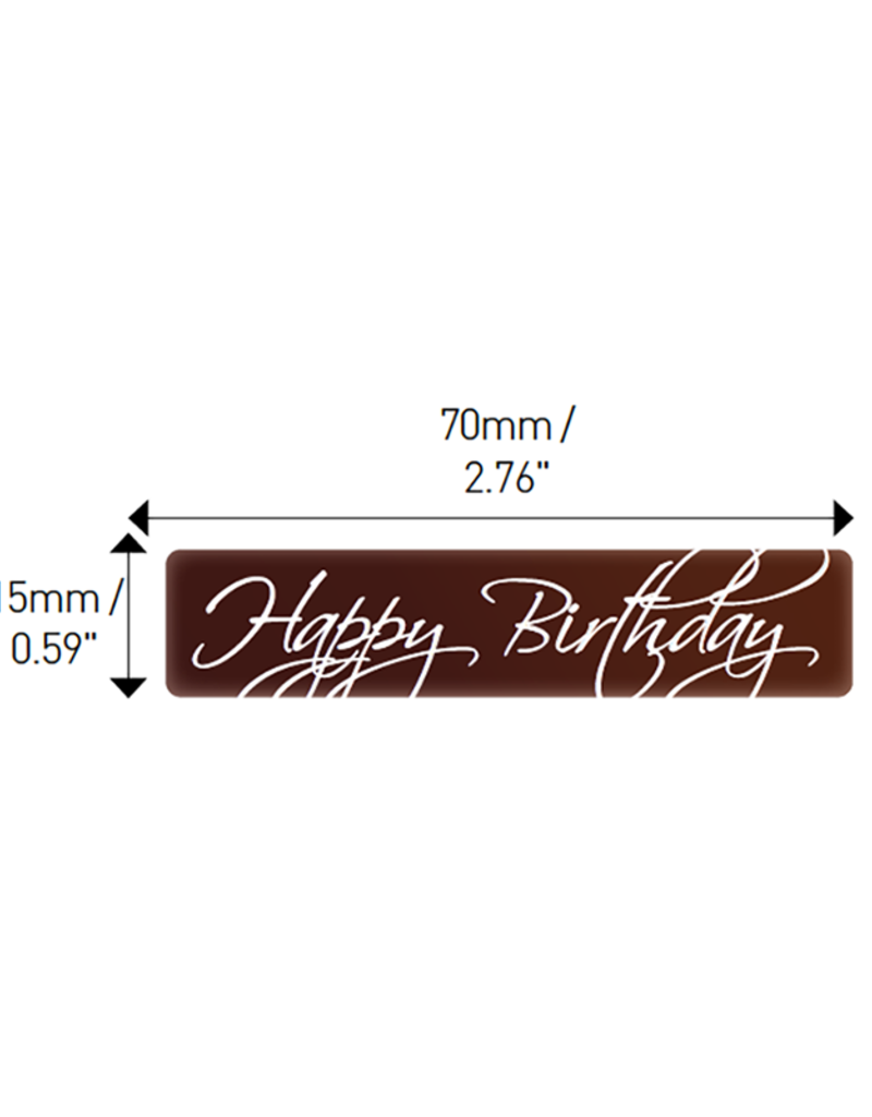 Valrhona Valrhona - Happy Birthday Rectangle Dark Chocolate (70 ct), 17065