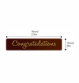 Valrhona Valrhona - Congratulations Rectangle Dark Chocolate (70 ct), 28120