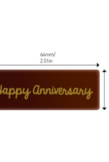 Valrhona Valrhona - Happy Anniversary Rectangle Dark Chocolate (50 ct), 28115