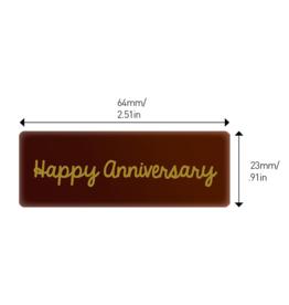 Valrhona Valrhona - Happy Anniversary Rectangle Dark Chocolate (50 ct), 28115