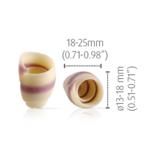 Dobla Dobla - Chocolate Rose Curl, White/Purple (180ct), 93183 | 73806