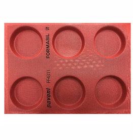Pavoni Pavoni - Pavoflex silicone mold, Formasil, 100mm (6 cavity), FF4311